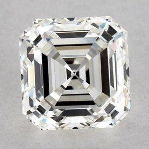 0.50 Carats Asscher Diamond loose K VS2 Good Cut